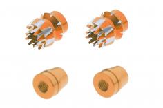 Steuerknüppelendstück / Gimbal Stick End / Typ S in orange mit M3 Gewinde 2 Stück