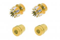 Steuerknüppelendstück / Gimbal Stick End / Typ S in gold mit M3 Gewinde 2 Stück