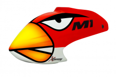 XCanopy Airbrush Fiberglas Angry Bird Haube für OMP HOPPY M1