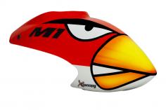 XCanopy Airbrush Fiberglas Angry Bird Haube für OMPHobby M1