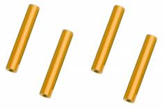 Abstandshalter / Spacer / Standoff M3 Aluminium eloxiert glatt in gold 4Stück 50mm