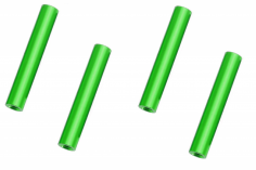Abstandshalter / Spacer / Standoff M3 Aluminium eloxiert glatt in grün 4Stück 50mm