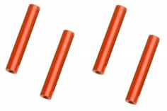 Abstandshalter / Spacer / Standoff M3 Aluminium eloxiert glatt in rot 4Stück 50mm