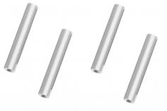Abstandshalter / Spacer / Standoff M3 Aluminium eloxiert glatt in silber 4Stück 50mm