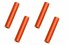 Abstandshalter / Spacer / Standoff M3 Aluminium eloxiert glatt in rot 4Stück 40mm