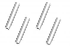 Abstandshalter / Spacer / Standoff M3 Aluminium eloxiert glatt in silber 4Stück 40mm