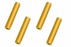 Abstandshalter / Spacer / Standoff M3 Aluminium eloxiert glatt in gold 4Stück 40mm