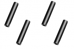 Abstandshalter / Spacer / Standoff M3 Aluminium eloxiert glatt in schwarz 4Stück 35mm