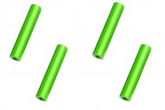 Abstandshalter / Spacer / Standoff M3 Aluminium eloxiert glatt in grün 4Stück 35mm