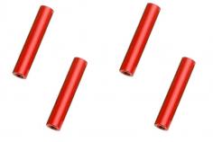 Abstandshalter / Spacer / Standoff M3 Aluminium eloxiert glatt in rot 4Stück 35mm