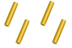 Abstandshalter / Spacer / Standoff M3 Aluminium eloxiert glatt in gold 4Stück 35mm
