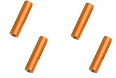 Abstandshalter / Spacer / Standoff M3 Aluminium eloxiert glatt in orange 4Stück 30mm