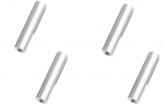 Abstandshalter / Spacer / Standoff M3 Aluminium eloxiert glatt in silber 4Stück 30mm
