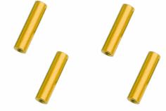 Abstandshalter / Spacer / Standoff M3 Aluminium eloxiert glatt in gold 4Stück 30mm