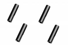 Abstandshalter / Spacer / Standoff M3 Aluminium eloxiert glatt in schwarz 4Stück 25mm