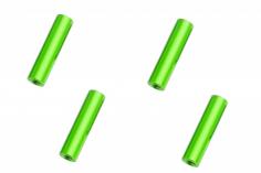 Abstandshalter / Spacer / Standoff M3 Aluminium eloxiert glatt in grün 4Stück 25mm