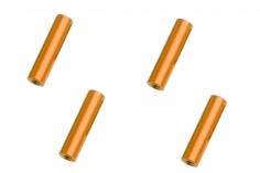 Abstandshalter / Spacer / Standoff M3 Aluminium eloxiert glatt in orange 4Stück 25mm