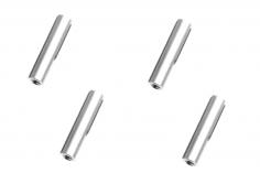 Abstandshalter / Spacer / Standoff M3 Aluminium eloxiert glatt in silber 4Stück 25mm