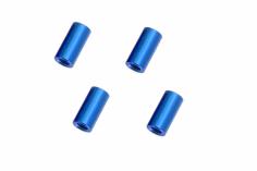 Abstandshalter / Spacer / Standoff M3 Aluminium eloxiert glatt in blau 4Stück 15mm