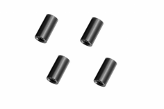 Abstandshalter / Spacer / Standoff M3 Aluminium eloxiert glatt in schwarz 4Stück 15mm