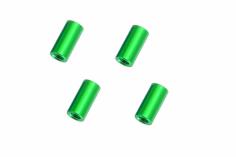 Abstandshalter / Spacer / Standoff M3 Aluminium eloxiert glatt in grün 4Stück 15mm