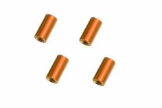Abstandshalter / Spacer / Standoff M3 Aluminium eloxiert glatt in orange 4Stück 15mm