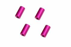 Abstandshalter / Spacer / Standoff M3 Aluminium eloxiert glatt in pink 4Stück 15mm