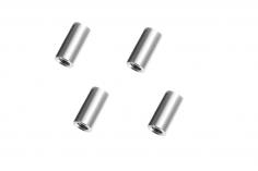 Abstandshalter / Spacer / Standoff M3 Aluminium eloxiert glatt in silber 4Stück 15mm
