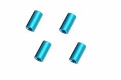 Abstandshalter / Spacer / Standoff M3 Aluminium eloxiert glatt in türkis 4Stück 15mm