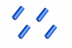 Abstandshalter / Spacer / Standoff M3 Aluminium eloxiert glatt in blau 4Stück 20mm