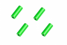 Abstandshalter / Spacer / Standoff M3 Aluminium eloxiert glatt in grün 4Stück 20mm