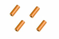 Abstandshalter / Spacer / Standoff M3 Aluminium eloxiert glatt in orange 4Stück 20mm
