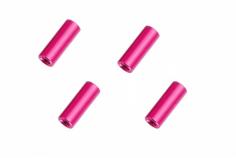 Abstandshalter / Spacer / Standoff M3 Aluminium eloxiert glatt in pink 4Stück 20mm