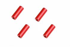 Abstandshalter / Spacer / Standoff M3 Aluminium eloxiert glatt in rot 4Stück 20mm