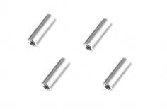Abstandshalter / Spacer / Standoff M3 Aluminium eloxiert glatt in silber 4Stück 20mm
