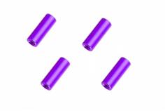 Abstandshalter / Spacer / Standoff M3 Aluminium eloxiert glatt in violet 4Stück 20mm