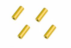 Abstandshalter / Spacer / Standoff M3 Aluminium eloxiert glatt in gold 4Stück 20mm