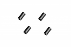 Abstandshalter / Spacer / Standoff M3 Aluminium eloxiert glatt in schwarz 4Stück 10mm