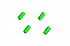 Abstandshalter / Spacer / Standoff M3 Aluminium eloxiert glatt in grün 4Stück 10mm