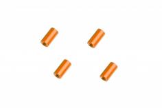 Abstandshalter / Spacer / Standoff M3 Aluminium eloxiert glatt in orange 4Stück 10mm