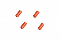 Abstandshalter / Spacer / Standoff M3 Aluminium eloxiert glatt in rot 4Stück 10mm