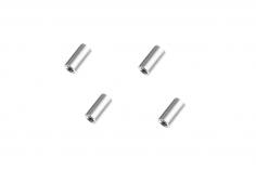 Abstandshalter / Spacer / Standoff M3 Aluminium eloxiert glatt in silber 4Stück 10mm