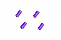 Abstandshalter / Spacer / Standoff M3 Aluminium eloxiert glatt in violet 4Stück 10mm