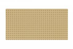 Wange Grundplatte sand gelb 16x32 Noppen, ca. 25,5x13cm