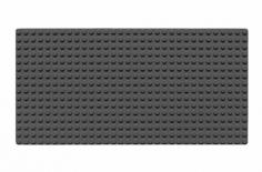 Wange Grundplatte dunkel grau 16x32 Noppen, ca. 25,5x13cm
