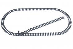 STS Klemmbausteine Eisenbahn Schienenkreis L - Oval mit Abstellgleis Im Karton - 33 Teile