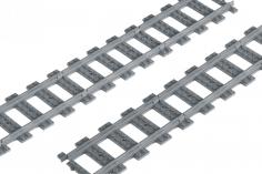 STS Klemmbausteine Eisenbahn Schiene Gerade im Karton  - 30 Stück