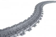 STS Klemmbausteine Eisenbahn Schiene Flexschienen im Karton - 100 Stück