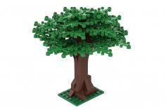 Klemmbausteine Großer Baum hellgrün - 114 Teile