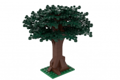 Klemmbausteine Großer Baum dunkelgrün - 114 Teile